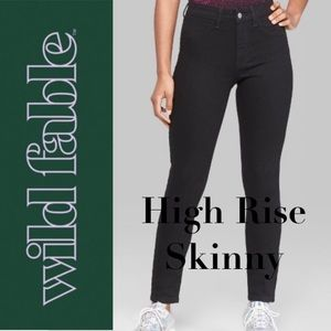 🍃🖤NWT Wild Fable High Rise Black Skinny Jean